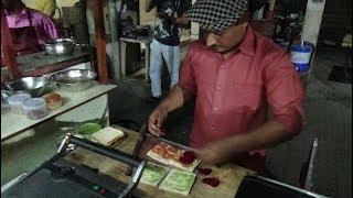 "Indian Street Food: ""Fatafat"" / Quick Skills at Omkar Pizza & Grill Sandwich Centre, Bardoli, India."