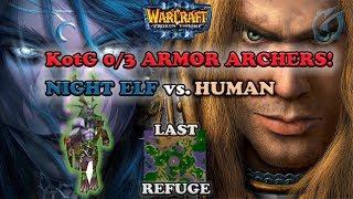 Grubby | Warcraft 3 The Frozen Throne | NE vs. HU - KotG - 0/3 Armor Archers! - Last Refuge