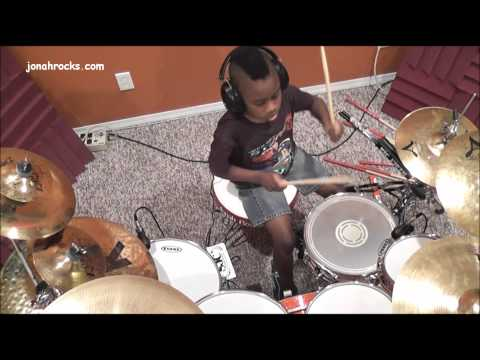 Avenged Sevenfold - Bat Country, 7 Year Old Drummer, Jonah Rocks video