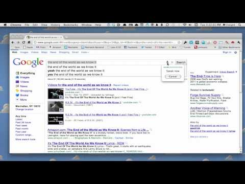 Google Voice Search Demo