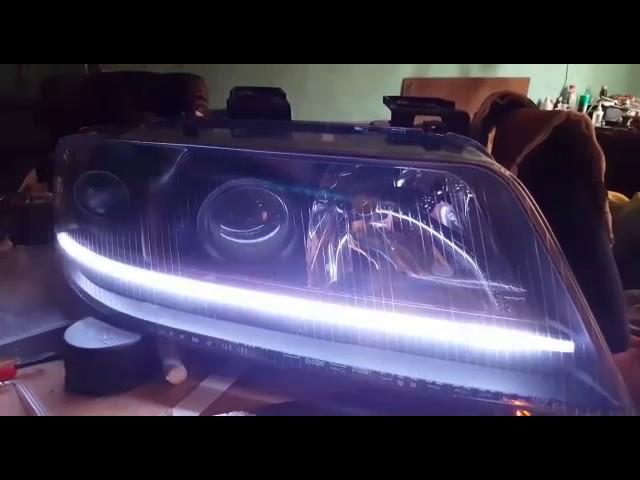 Audi a6 c5 фары светодиодные своими руками 56