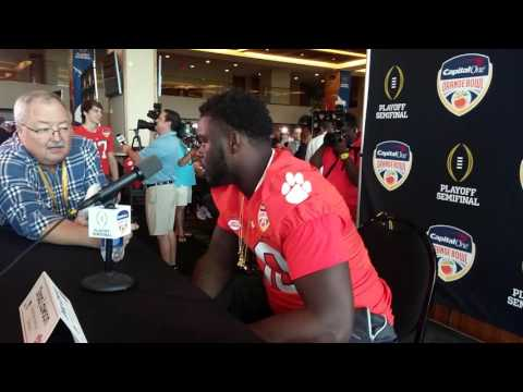 Clemson's Shaq Lawson speaks at Orange Bowl media day