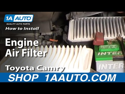 How To Install Replace Engine Air Filter Toyota Camry 02-06 1AAuto.com