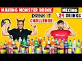 MIXING ALL OUR 24 DRINKS TOGETHER AND DRINKING IT | Mix It & ...