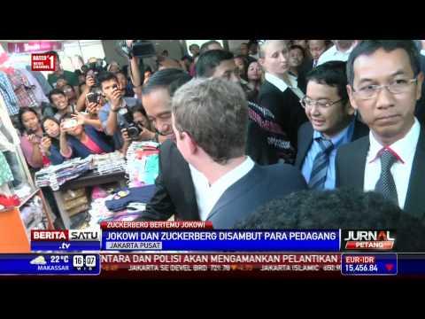 Jokowi dan Mark Zuckerberg Blusukan ke Pasar Tanah Abang