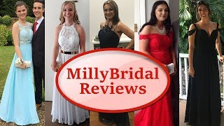 Trying On Cheap Prom Dresses From MillyBridal  Online Formal Party & Evening Gowns Reviews