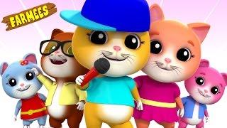 Five Little Kittens | Farmees Nursery Rhymes | Kids Songs | Videos For Children