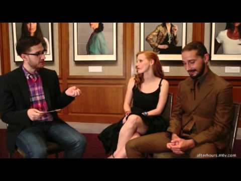The Yes/No Game with Shia LaBeouf & Jessica Chastain