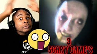 3 INSANELY SCARY GAMES!!..i broke another chair....