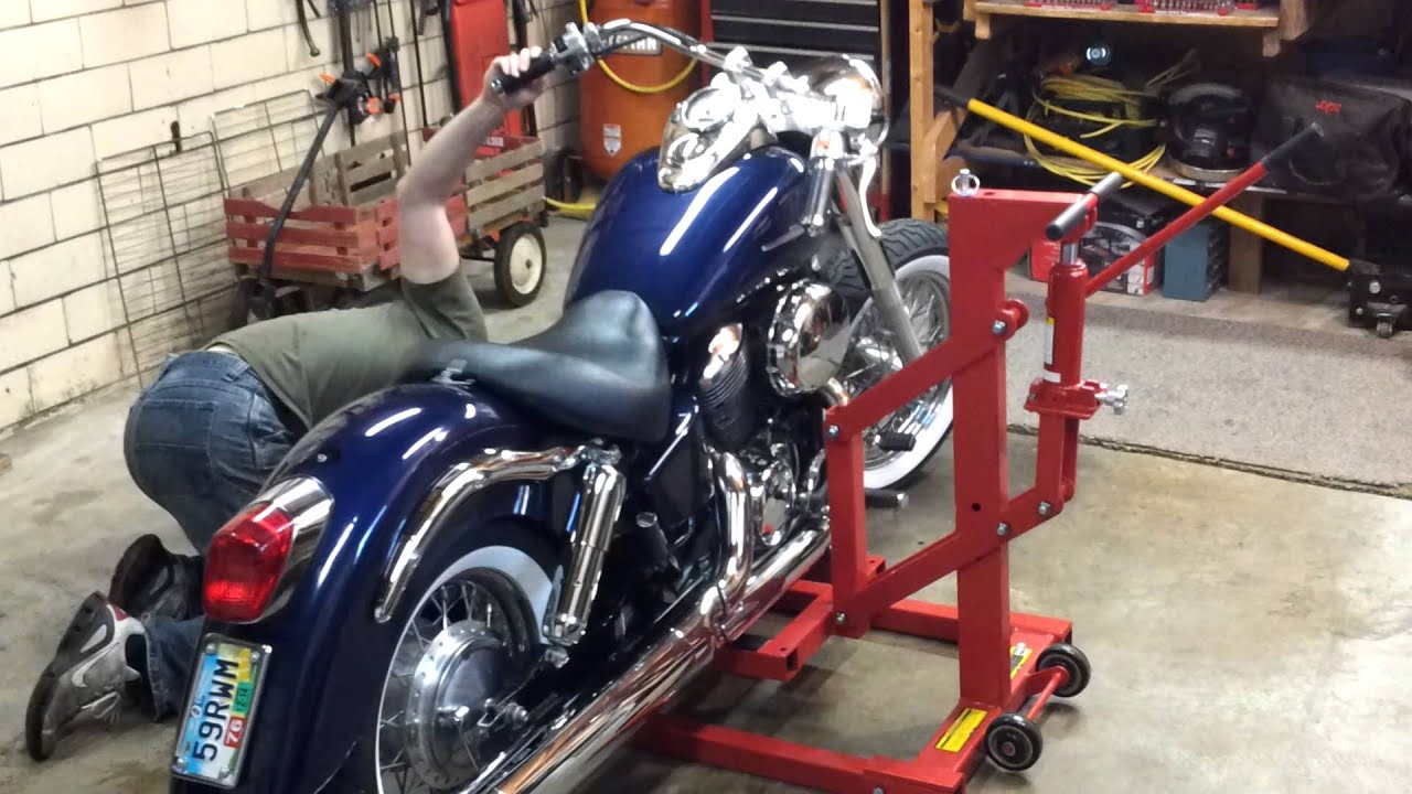 Harbor Freight High Position Motorcycle Lift Demonstration