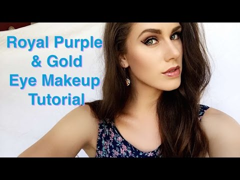 Royal Purple & Gold  Eye Makeup Tutorial   Cassandra Bankson