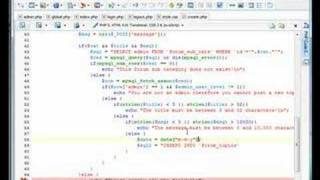 PHP Forum // Finalizing Create Topic