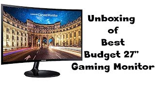 Best Budget Gaming  Monitor Samsung 27 inch (68.5 cm) Curved LED Backlit Monitor LC27F390FHWXXL