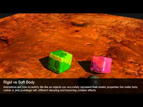 iClone5 Functional Demo – Rigid vs Soft Body