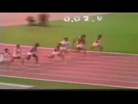 Mexico 68 Olympic 100m Final