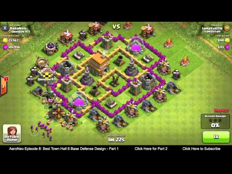 BEST Town Hall Level 6 (TH6) Base Defense Design Layout Strategy for Clash of Clans - Part 1