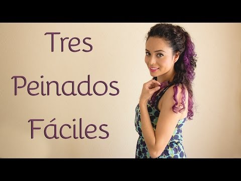 Peinados para cabello chino (3 opciones fáciles y rápidas para diario)