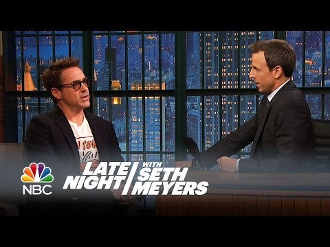 "Robert Downey Jr. Is the ""Mayor of Comic-Con"" - Late Night with Seth Meyers"