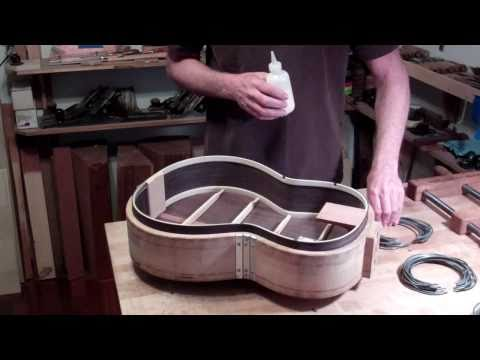 0 Classical Guitar Building, Oberg Guitars, Clamping the Top to the Body