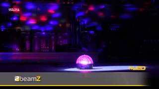 BeamZ Mini Star Ball 6x 3W RGBWAP LEDs IR 153.214