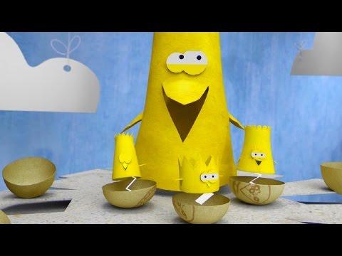 Мультфильм про оригами - Бумажки - С днем рождения, птенчики!