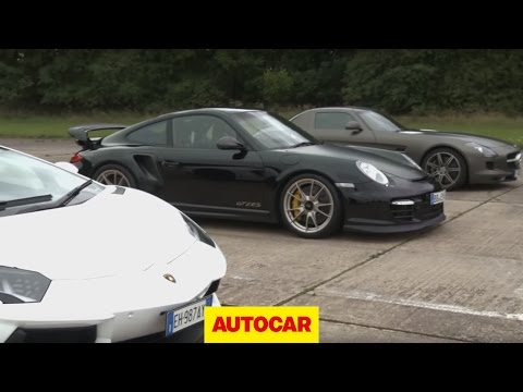 Lamborghini Aventador vs 911 GT2 RS vs Mercedes SLS