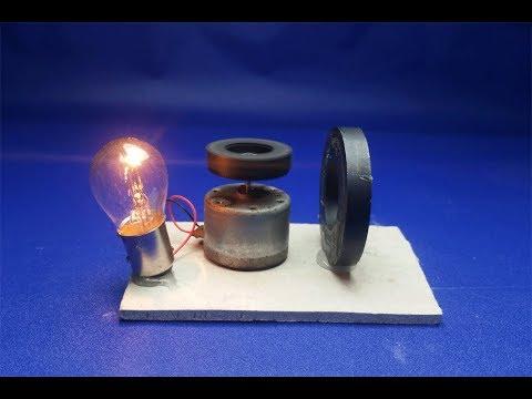make free energy dc motor with light bulb 12v || 2018 thumbnail