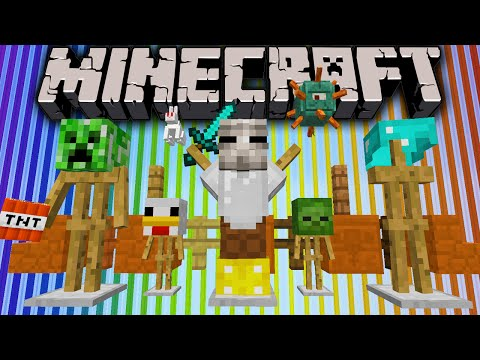 Minecraft 1.8 Snapshot: Armor Stands, Color Beacons, Red Sandstone, New Fence Recipe, Mob AI