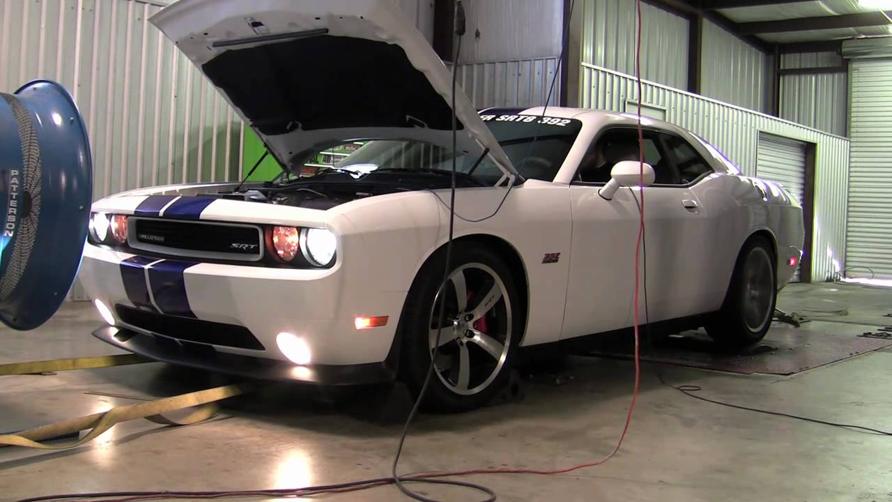 2011 Dodge Challenger SRT8 392 HEMI - Chassis Dyno Test - YouTube