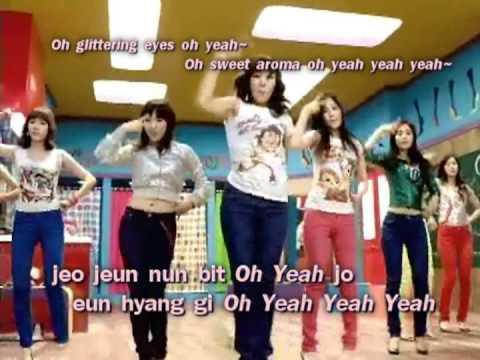 Girls' Generation Gee EngSub + Lyrics Karaoke