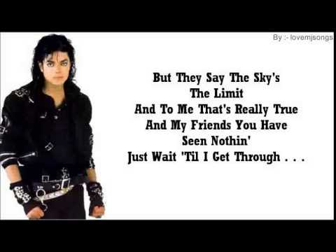 Michael Jackson - Bad (lyrics) video