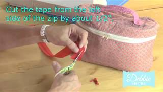 zips on a roll and how to attach a slider to a zipper
