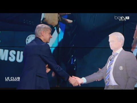 Arsene Wenger shakes hands with 'Jose Mourinho'