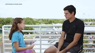 Kid Reporter Talks Art, Hair & More With Milos Raonic