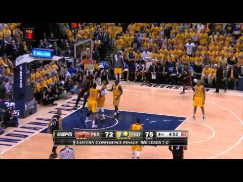 Heat vs Pacers: Game 2 Highlights - LeBron and Wade Score Miami's last 21 Points