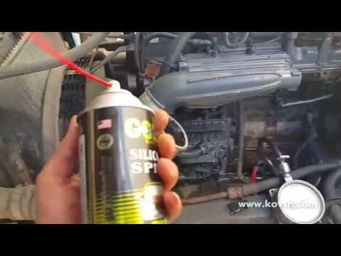 Для раскрутки дизеля рекомендуем силиконовую смазку вместо эфира