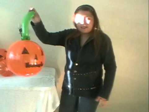 Curso decoracion con globos halloween colgantes de - Decoracion calabazas para halloween ...