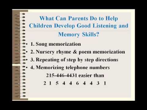Learning Disabilities There is a Cure: Auditory Memory
