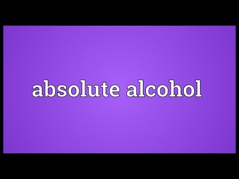 Header of Absolute alcohol