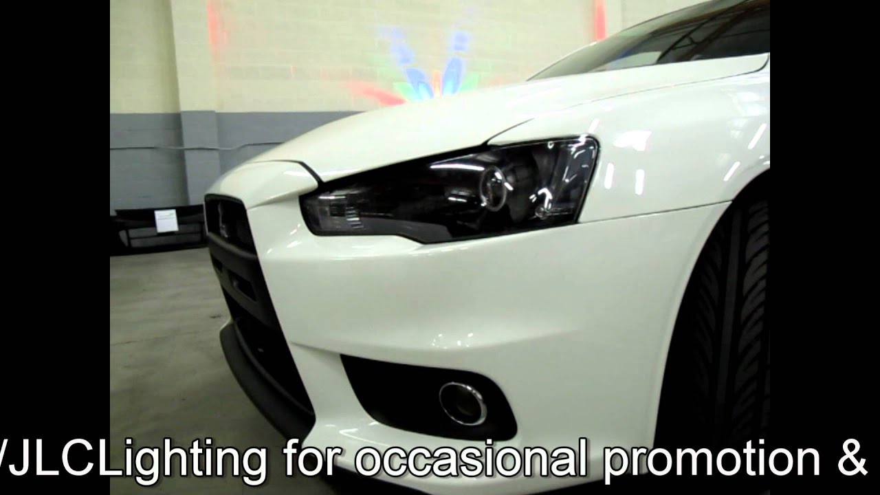 Mitsubishi Lancer Evolution X Projector Retrofit by JLC Lighting - YouTube