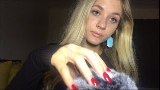 ASMR-CLOSE UP- Whisper Repeating My Outro/Hand Movements