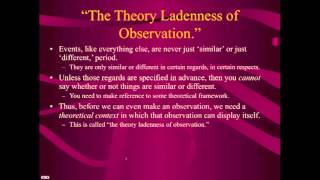 Popper on Observation and Hypotheses (Lecture 6, Video 1 of 3)