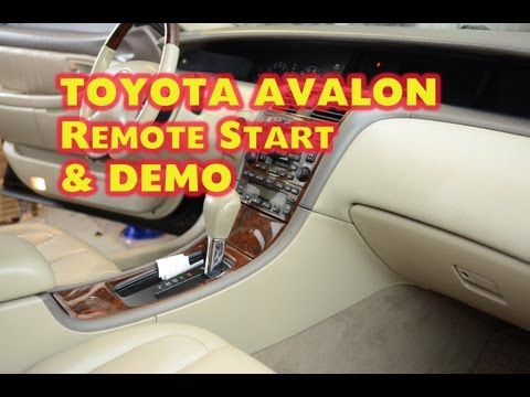 Toyota Avalon Remote Start Installation with DEI Idatalink Bypass by Autotoys.Com