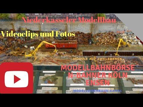 N-Bahner Köln Ensen Modellbahn Börse Modelleisenbahn Ausstellung Schrott und beleuchtete Modelle
