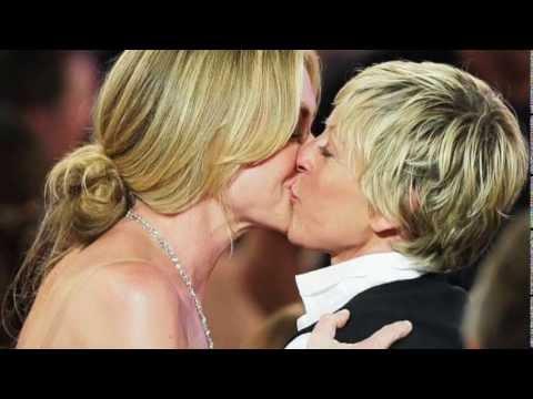 Ellen DeGeneres's kisses (part 4) Portia de Rossi