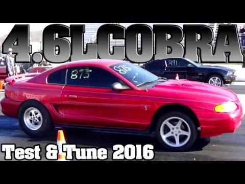 4.6L Mustang Cobra vs Hellcat Charger, Mustang Gt drag racing 2016