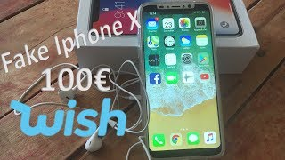Unboxing FAKE IPHONE  X  WISH