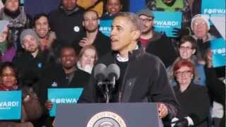 """President Obama Tells the Story of """"Fired Up! Ready to Go!"""" at His Final Rally"""