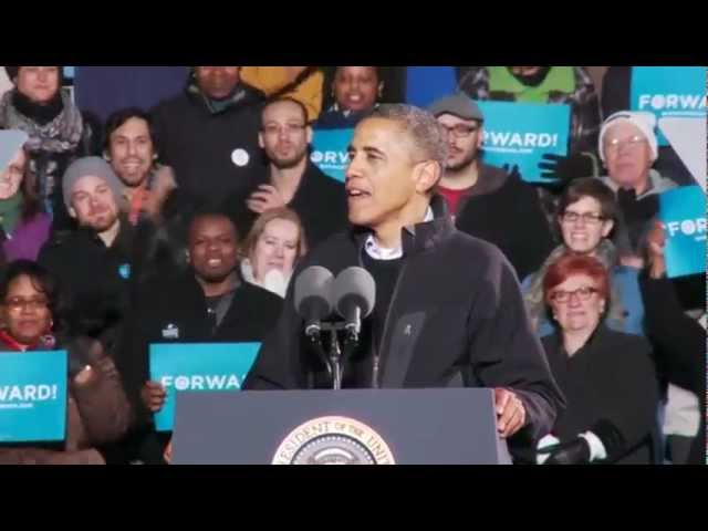 "President Obama Tells the Story of ""Fired Up! Ready to Go!"" at His Final Rally"