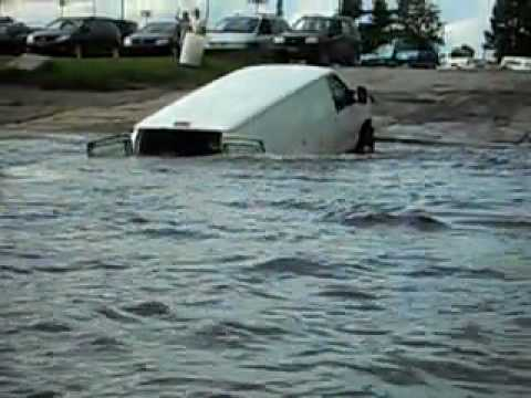 Excuse Me Sir, But Your Van Seems to be Drowning